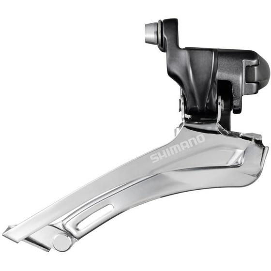 Shimano voorderailleur CX70 10S dubbel zilver aanlas top pull