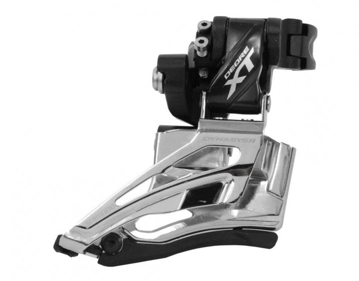 Shimano voorderailleur Deore XT M8025 2x11 speed klem hoog