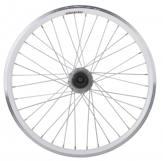 Shining achterwiel 22 inch velgrem 36G staal wit