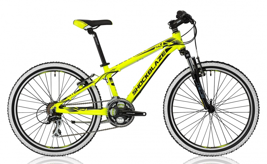 Shockblaze Warrior 24 Inch 32 cm Jongens 21V V Brake Geel