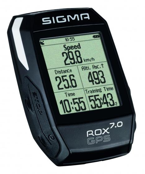Sigma fietscomputer Rox GPS 7.0 zwart