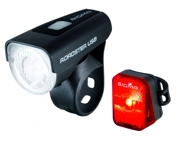 Sigma Beleuchtung 25 Lux + Roadster Nugget LED USB-Ladegerät ...