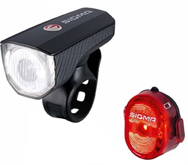 Sigma verlichtingsset Aura 40 Lux/Nugget II led zwart