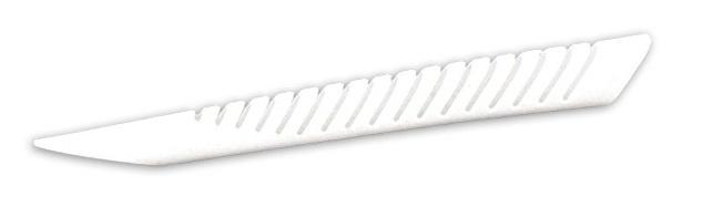 Simpla achtervorkbeschermer Shark Fin 24 x 2,6 cm wit