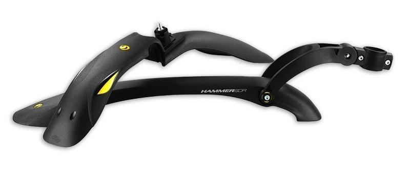 Simpla spatbordenset Hammer 1 24 29 inch zwart/geel