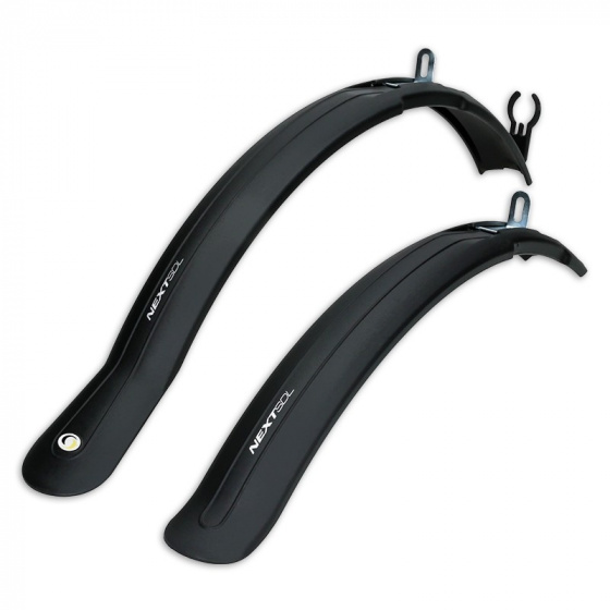 Simpla spatbordenset Next Long 26 28 inch zwart