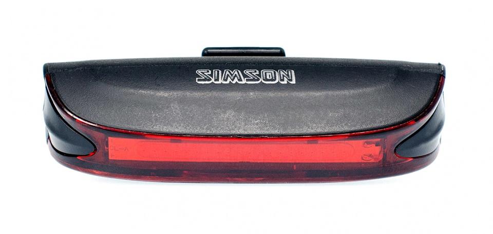 Simson achterlicht Line USB led oplaadbaar zwart
