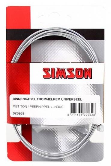 Simson binnenkabel trommelrem 2200 mm zilver