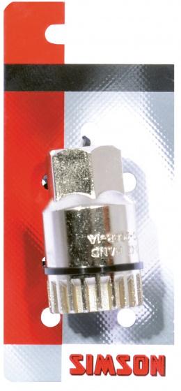 Simson bracketafnemer 2V kettingblad B1 staal zilver