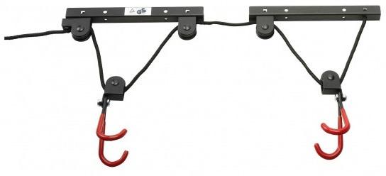 Simson fietslift/ophangsysteem staal zwart/rood
