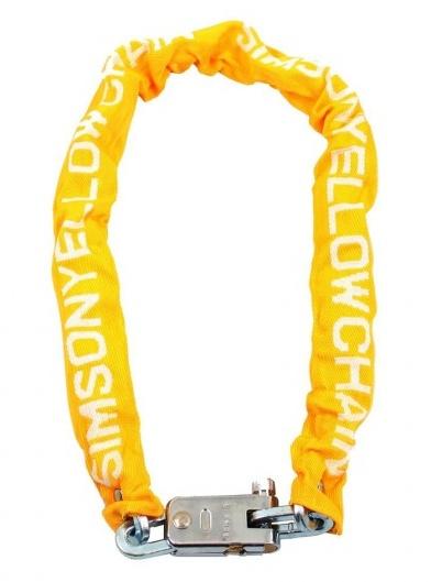 Simson kettingslot Yellowchain 90 cm x 7 mm geel