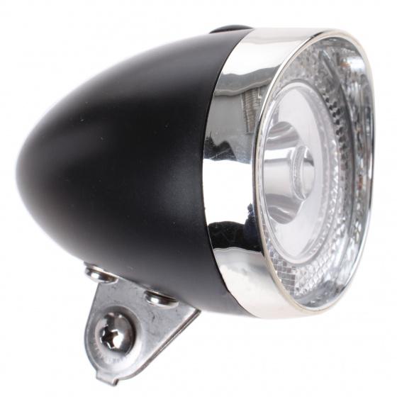 Simson koplamp classic mini batterij voorvork zwart