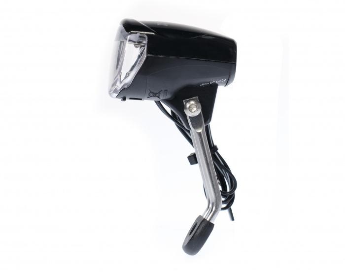 Simson koplamp Cluster e bike voorvork zwart