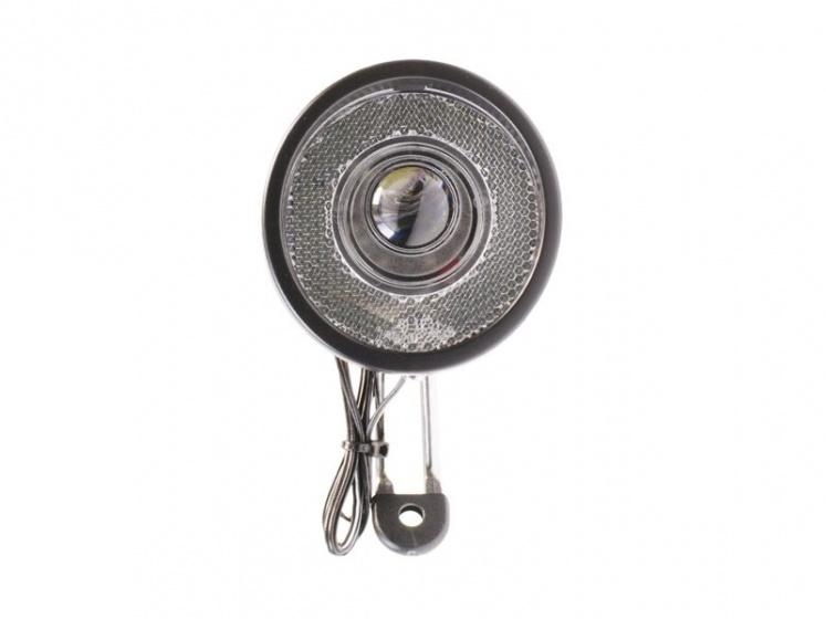 Simson koplamp Radiant led naafdynamo voorvork zwart