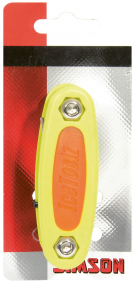 Simson multitool Icetoolz 12,8 cm staal geel 10 delig