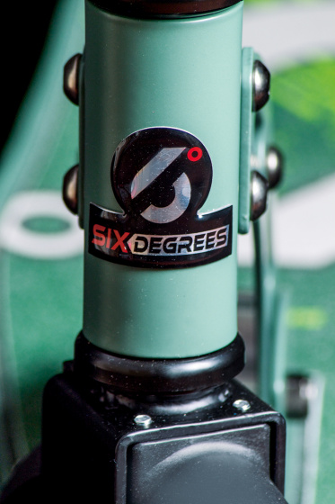 Six Degrees stuntstep Junior Voetrem Groen