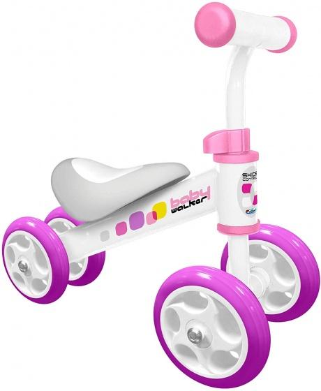 Skids Control - Loopfiets Junior Wit/roze
