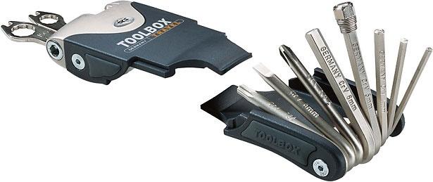 SKS multitool Toolbox Travel 18 functies 100 mm zwart/zilver