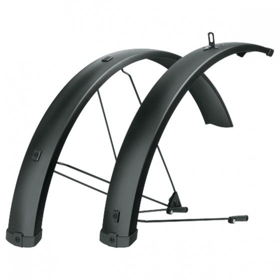 SKS spatbordenset Bleumels 27,5 29 inch 75 mm aluminium zwart