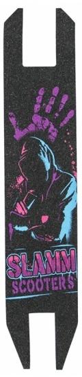 Slamm DIE Cut Griptape Deck Stuntstep Zwart Blauw Paars