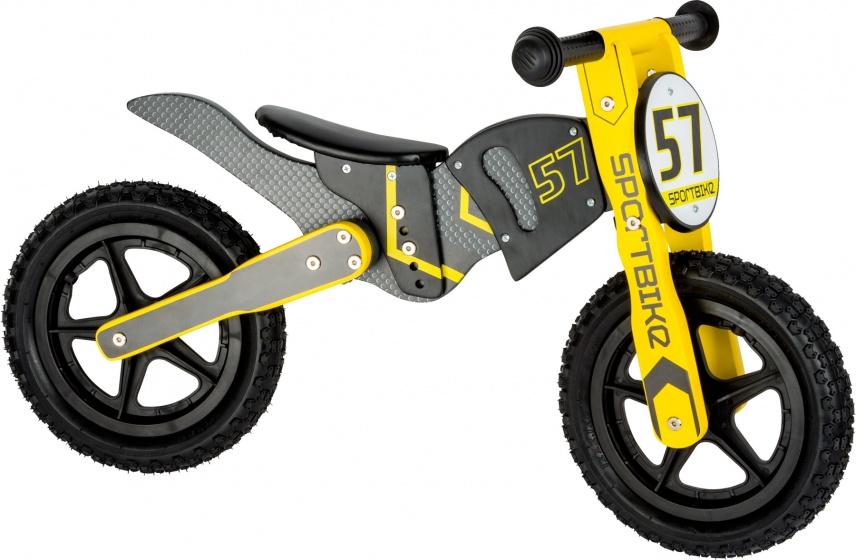 Small Foot loopfiets crossmotor Junior Grijs