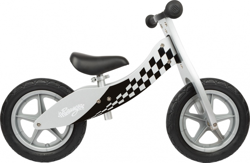 Small Foot Race loopfiets 12 Inch Junior Wit/Zwart