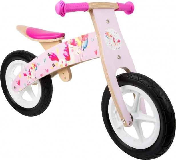 Small Foot Eenhoorn loopfiets 12 Inch Meisjes Roze/Blank