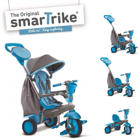 smarTrike 4 in 1 driewieler Swing DLX Junior Grijs/Blauw