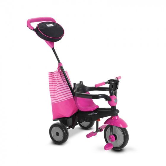 smarTrike 4 in 1 driewieler Swing DLX Meisjes Roze/Zwart