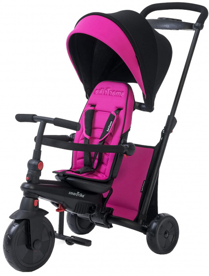 Smartrike - 7-in-1-driewieler Smartfold 500 Meisjes Zwart/roze