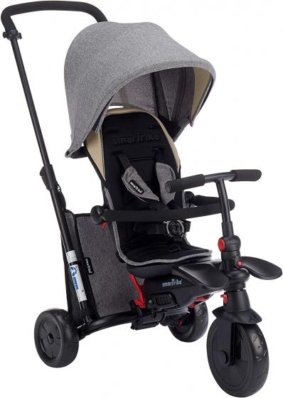 Smartrike - 7-in-1 Driewieler Smartfold 600s Junior Zwart/grijs