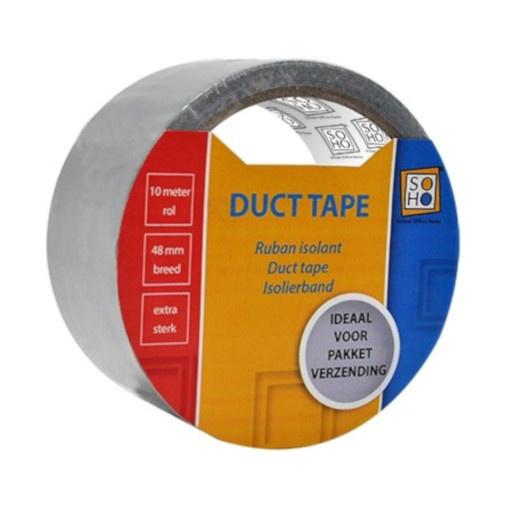 Soho duct tape 48 mm zilver 10 meter