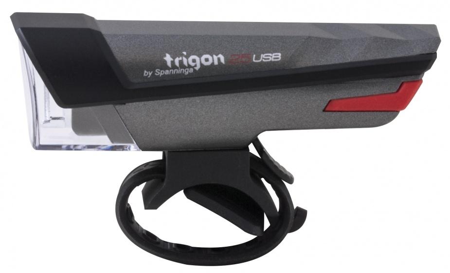 Spanninga koplamp Trigon 25 led zwart