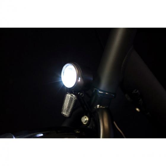 Spanninga koplamp X&O 30 e bike led matzwart