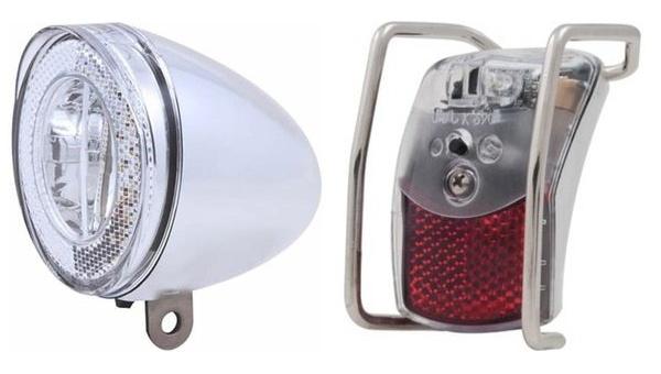 Spanninga verlichtingsset batterij Swingo XB led zilver
