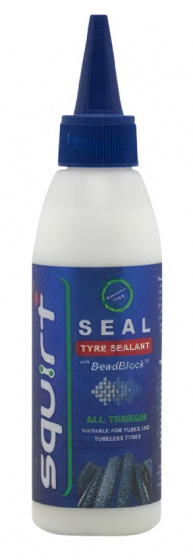 Korting Squirt Sealant Seal Tyre Tubeless 150 Ml Blauw wit