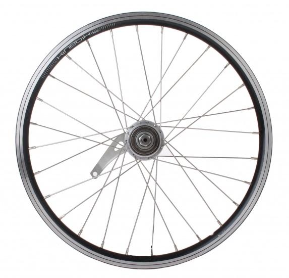 Sram achterwiel 20 inch terugtraprem staal 28G zwart/zilver