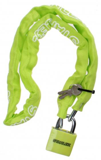 Stahlex kettingslot met nylon hoes staal 1000 x 50 mm groen