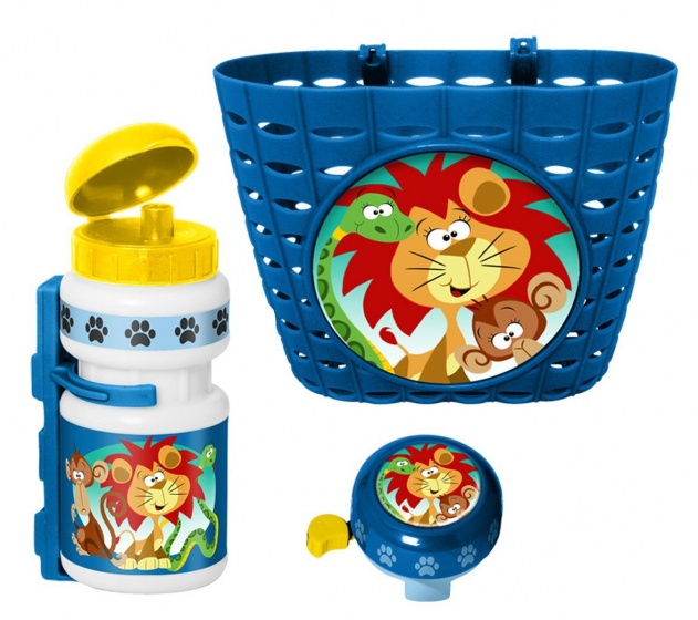 Stamp accessoiresset Jungle Animals blauw 3 delig