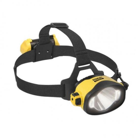 Stanley hoofdlamp led met hoofdband 280 lumen geel