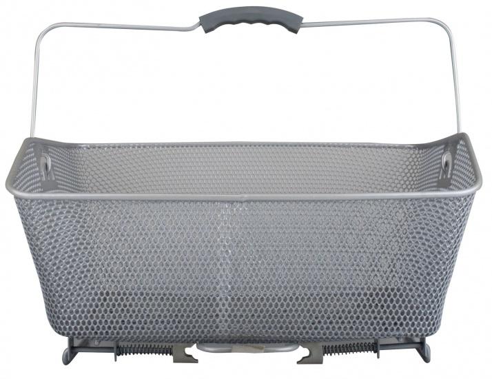 Starling metalen fietsmand bagagedrager 20 liter zilver