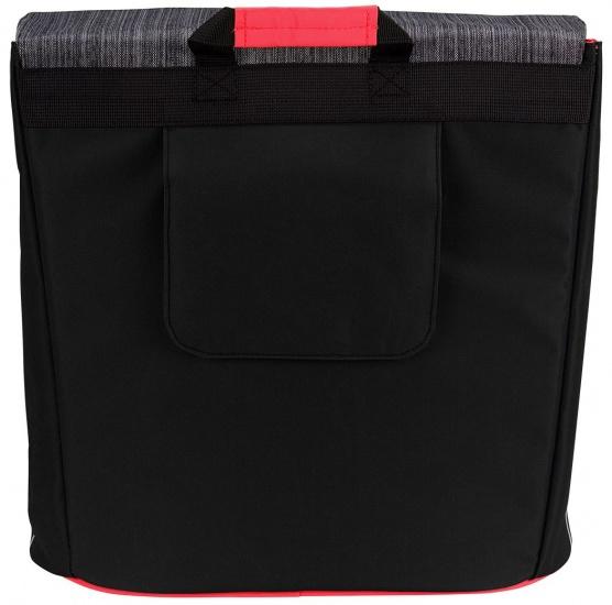 Starling Shopper Fietstas Ovaal unisex 23L zwart/antraciet/rood