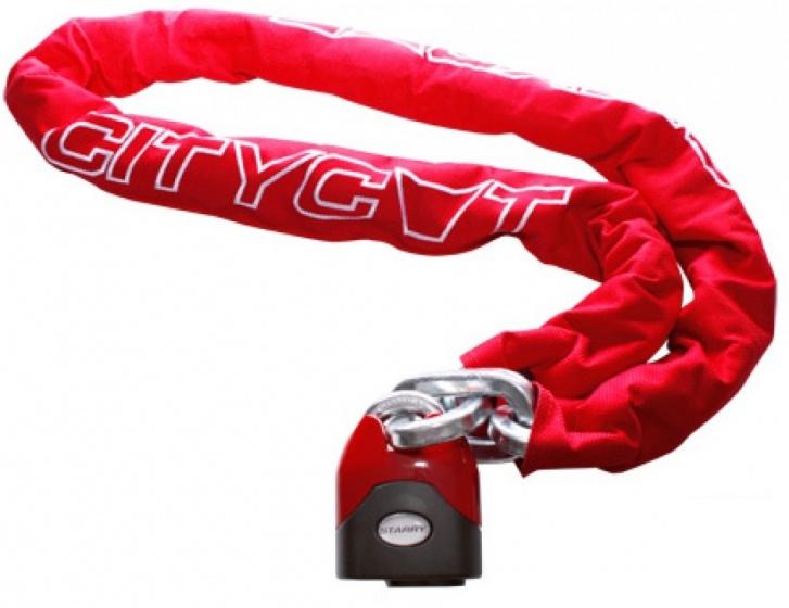 Starry Kettingslot Citycat met nylon hoes 2000 x 12,5 mm rood