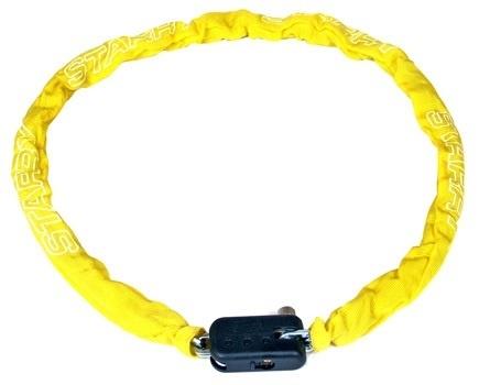 Starry Kettingslot met nylon hoes 1200 x 5,5 mm geel