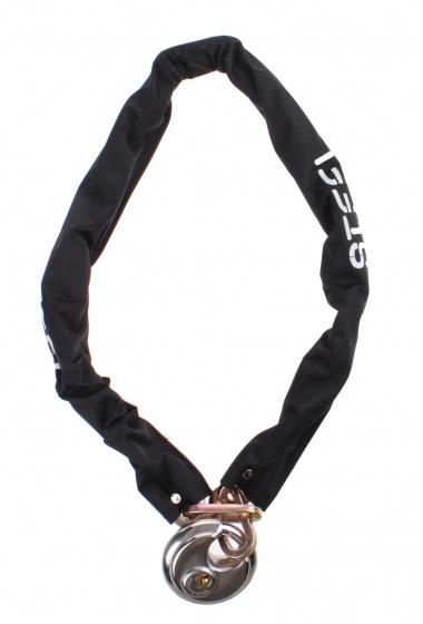 Steel kettingslot 7 x 900 mm met discus zwart