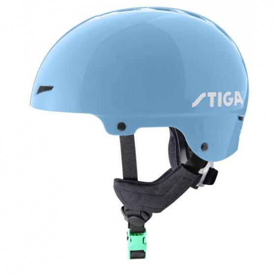 Stiga fietshelm Play Plus junior lichtblauw maat 50/51 cm