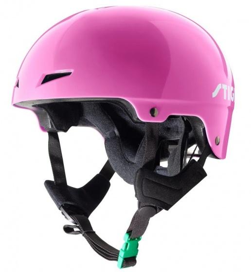 Stiga fietshelm Play Plus meisjes roze maat 48/49 cm