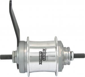 Sturmey Archer Duomatic S2C achternaaf 2V alu. 32G zilver