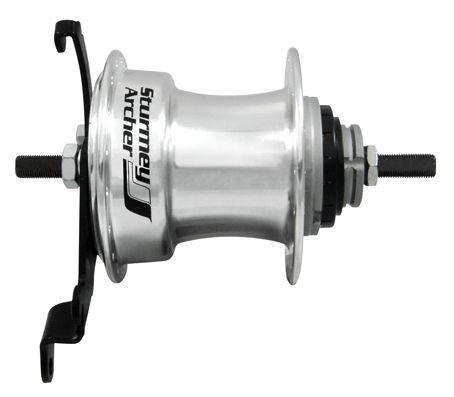 Sturmey Archer Naaf X RD5 achter 36 gaats 5SP aluminium zilver