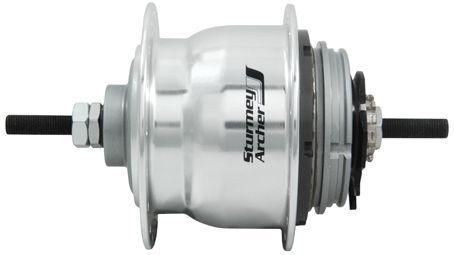 Sturmey Archer Naaf XRF 8 achter 36 gaats 8SP aluminium zilver